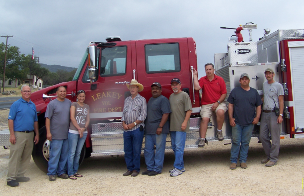 2011- Leakey Volunteer Fire Department pumper truck, Leakey, Texas.