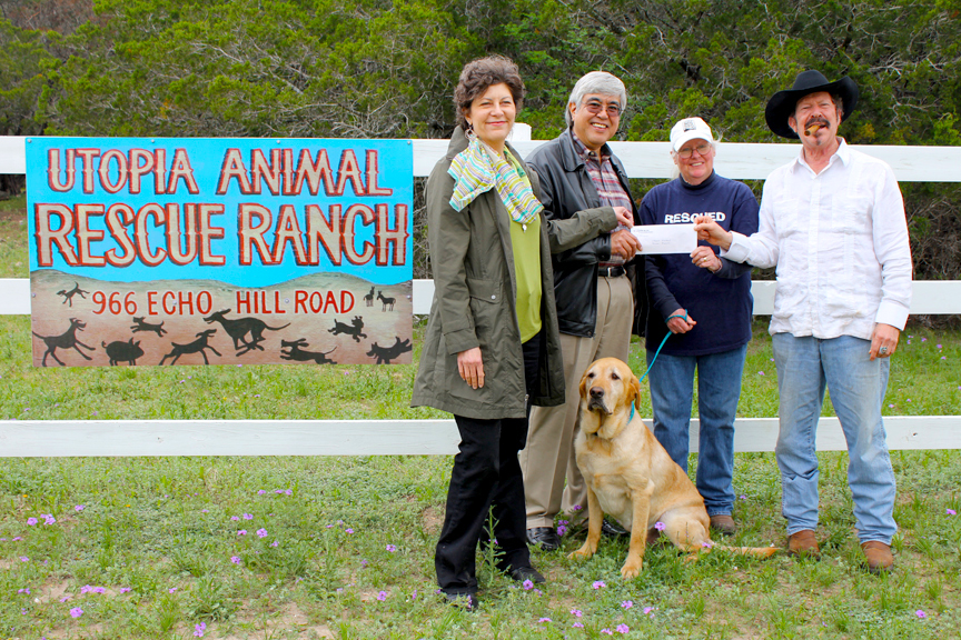 2012- Utopia Animal Rescue Ranch operating support, Utopia, Texas.